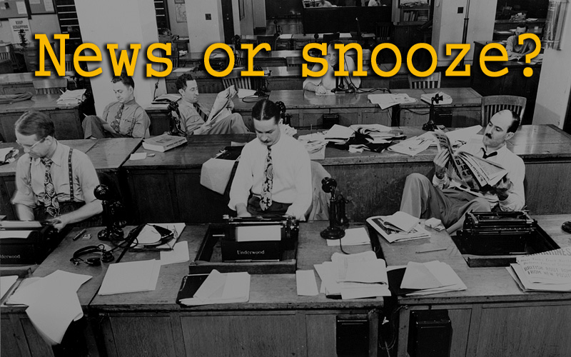 old fashioned newsroom photo