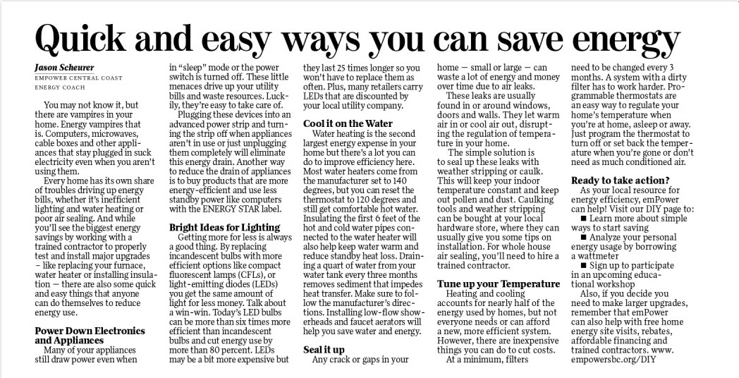Quick Easy Ways You Can Save Energy Surfmedia
