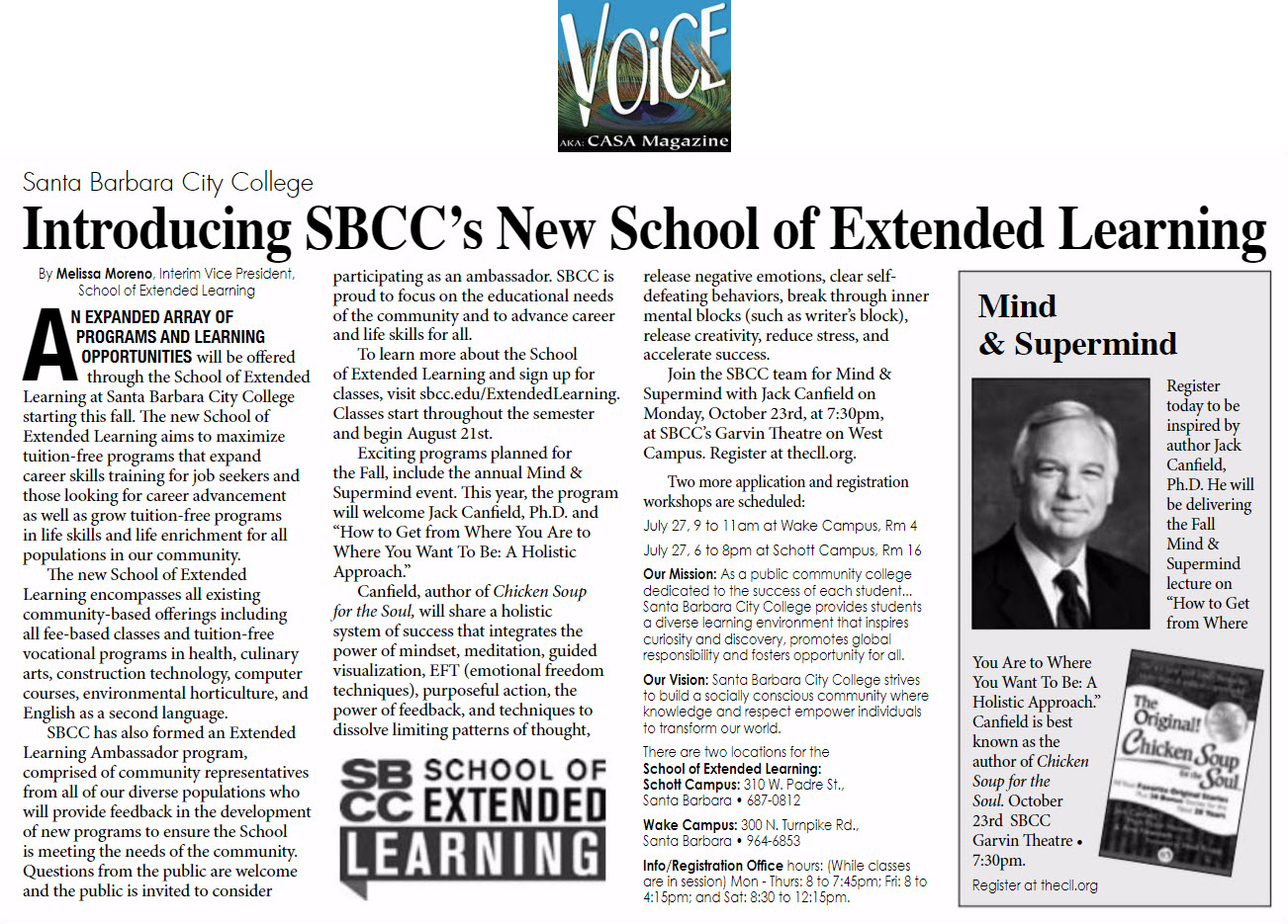Voice Magazine Extended Learning Article 7/7/17